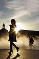 Bordeaux place de la bourse sunset and fog with girl.jpg