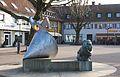 Borken (Westfalen) - Escultura en Markt - Sculpture in Markt - 01.jpg