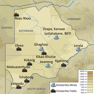 Lucara Diamond - Diamond mines and kimberlite fields in Botswana