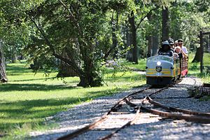 Bowness Park, Calgary - The ridable miniature railway operates in summer months.
