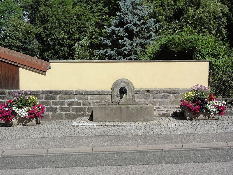 Bréménil (M-et-M) fontaine