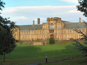 Direct grant grammar school - Bradford Grammar School, originally a large secular boys school (now mixed)