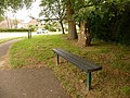 Bradpole, bench on Lee Lane corner - geograph.org.uk - 1364330.jpg
