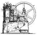 Brayton inverted walking beam engine 1890.jpg