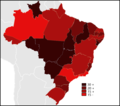 Brazilian States by number of deaths in traffic accidents.png