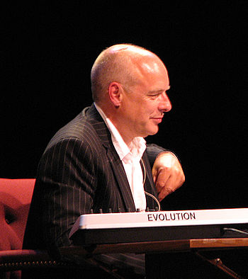 Photograph of Brian Eno at a 2006 Long Now Fou...