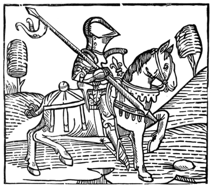 THE KNIGHT (From Caxton's 'Game and Playe of the Chesse')