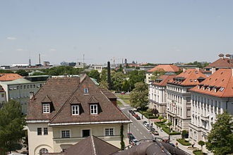 Brienner Straße (Munich) - Brienner Strasse, view to Karolinenplatz