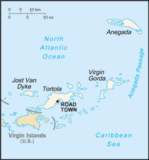 Dummy corporation - British Virgin Islands, a popular location to set up dummy companies.