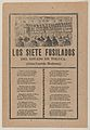 Broadsheet relating to seven men executed by a firing squad on account of their murder on July 9 of the entire household of Sr Remmett in Toluca, a corrida in the bottom section MET DP869139.jpg