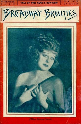 Gossip magazine - Actress Seena Owen, on the cover of the November 1922 Broadway Brevities