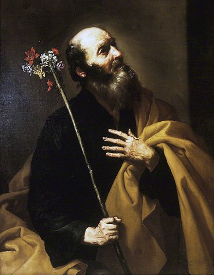 Saint Joseph with the Flowering Rod, by Jusepe de Ribera, early 1630s. Ribera conveys the unexpected wonder of the moment with the lighting from above. Brooklyn Museum Brooklyn Museum - Saint Joseph with the Flowering Rod - Jusepe de Ribera - overall.jpg