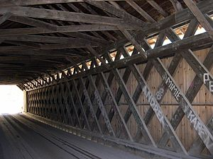 Brown Covered Bridge - Lattice