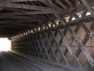 Brown Covered Bridge - Lattice