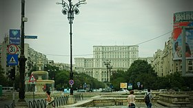 Bucharest - Unirii Avenue (14490359729).jpg