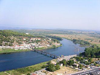 Bojana (river) - Bojana  River near Shkodër