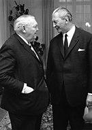 Ludwig Erhard und sein Nachfolger Kurt Georg Kiesinger