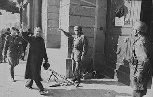 Ferenc Szálasi - Ferenc Szálasi in Budapest, October 1944.