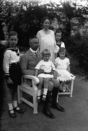 Mary Jane (shoe) - The family of Prince Oskar of Prussia in 1925: the three boys (aged 10, 8, and 3) are wearing Mary Janes.