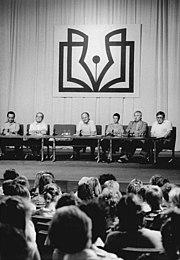 Bundesarchiv Bild 183-1989-0921-050, Autorenlesung mit Heinz Knobloch