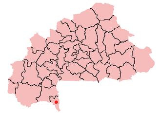 Batié, Burkina Faso - Location of Batié in Burkina Faso