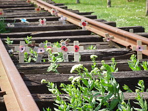 English: Burma Railway Memorial at the Nationa...
