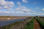 File:Burnham Overy Creek from the coast path - geograph.org.uk - 636368.jpg