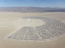 c7969fc422d Oblique aerial photo of Black Rock City showing the familiar