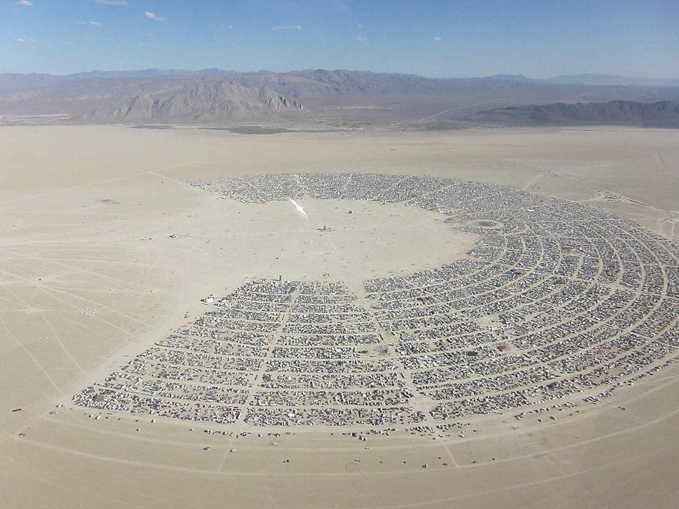 Burning Man aerial