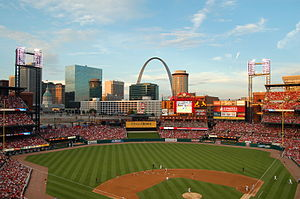 Cardinals–Cubs rivalry - Busch Stadium home of the St. Louis Cardinals