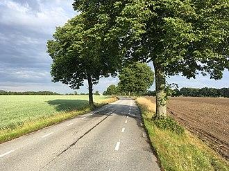 2-1 road - A rural 2-1 road in Allerum, Sweden.