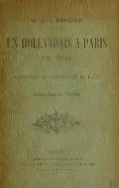 File:Byvanck - Un Hollandais à Paris en 1891, 1892.djvu