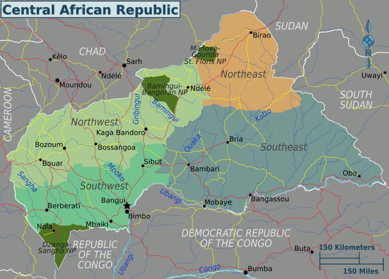 landkarten der zentralafrikanischen republik. Black Bedroom Furniture Sets. Home Design Ideas