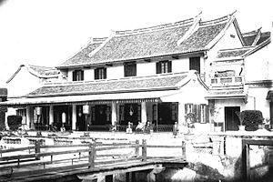 COLLECTIE TROPENMUSEUM Chinees huis in Semarang TMnr 60022048