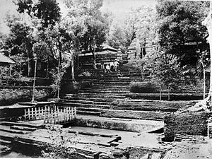 Imogiri - Upper entrance to Sultan Agungan in 1890