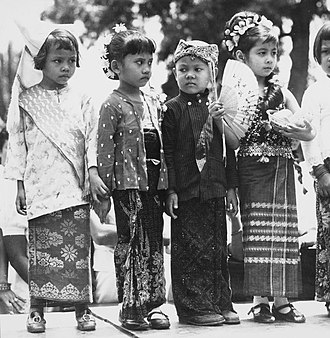 Culture of Indonesia - Indonesian children dressed in various traditional costumes