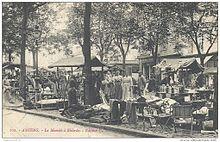 Carte postale ancienne (circa 1910) – Amiens, le Marché à Rèderies.