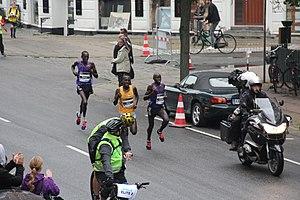 Edwin Kipyego - Copenhagen Half marathon Sep 13 2015 at 19.5 with Alex Oloitiptip Korio