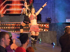 Christina Von Eerie - Von Eerie at a TNA Impact! taping in August 2010