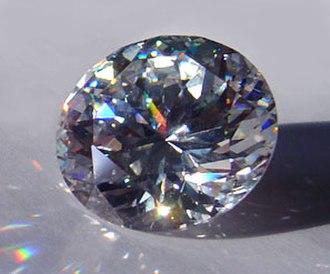 Zirconium dioxide - Brilliant-cut cubic zirconia