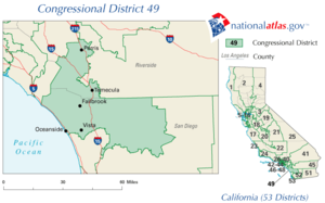 California's 49th congressional district - 2003 - 2013