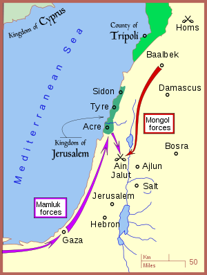 Campaign of the Battle of Ain Jalut 1260.svg