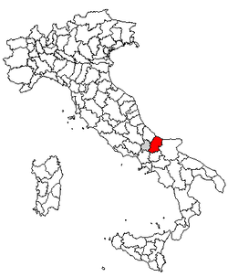 Location of Province of Campobasso
