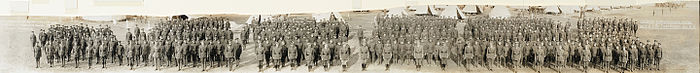 Canadian Expeditionary Force, 110th O.S. Battalion, Camp Borden, August 31, 1916 (HS85-10-32561)