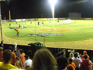 Canberra Cavalry - Cavalry win 6-4 over Perth. Cavalry pitch invasion after win, 2013 first Championship gane.
