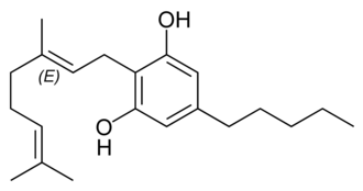 Cannabinoid - Chemical structure of cannabigerol.