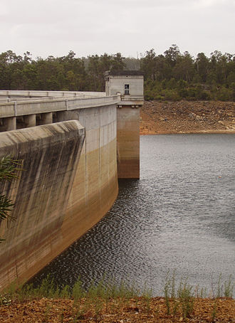 Canning Dam - Canning Dam, as it appeared at 34.4% of capacity