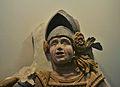 Cap del guerrer del palau dels Centelles, s. XVI, Museu Arqueològic d'Oliva.JPG