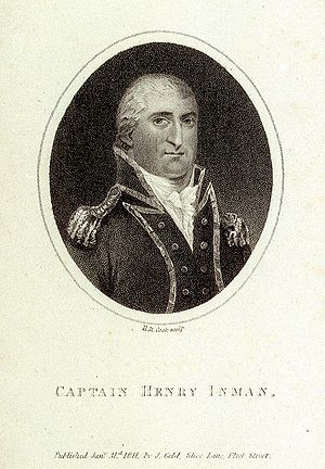 Henry Inman (Royal Navy officer) - Captain Henry Inman, engraving by Henry Cook, 1811