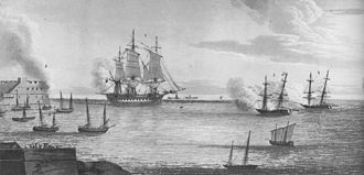 French frigate Minerve (1794) - Capture of Minerve by Chiffonne and Terrible.